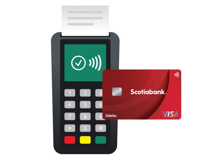 pago contactless terminal scotiabank mexico