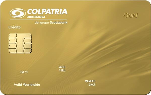 tarjeta de crédito oro