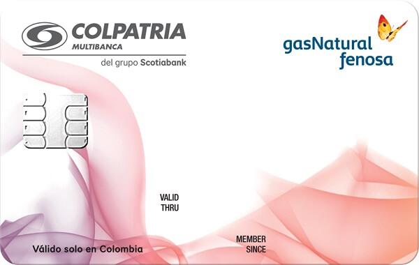 tarjeta de crédito gas natural