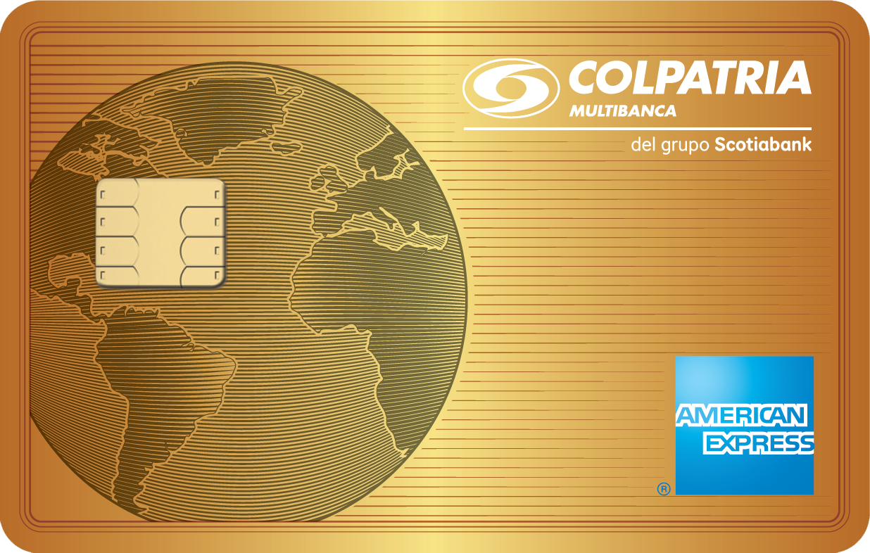 imagen tarjeta de crédito Oro American Express oro
