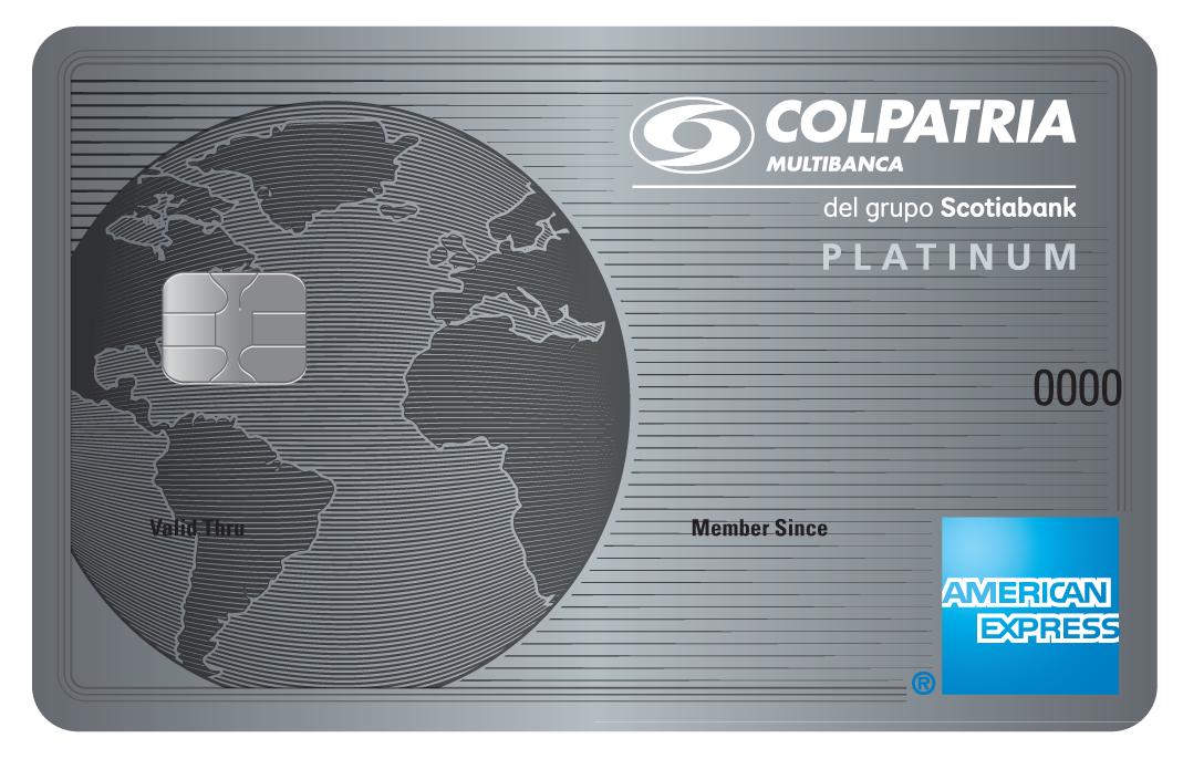 imagen tarjeta de crédito Platinum American Express platinum