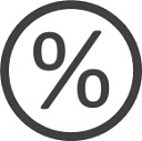 Icon porcentaje