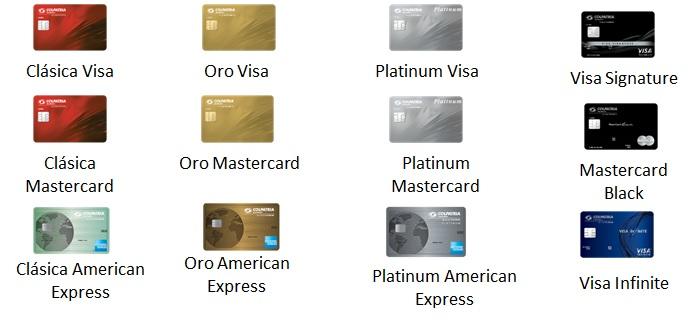 Imágenes de tarjetas de crédito Colpatria
