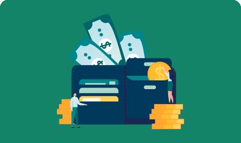 Persona con su tarjeta de cuenta de ahorros en la mano