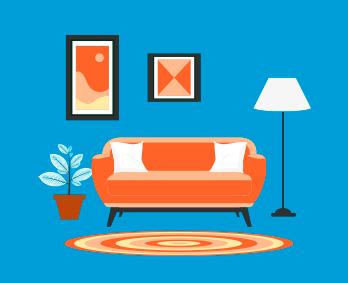 ilustracion de sala de casa