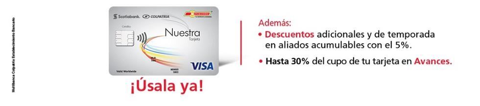 Imagen Tarjeta la Nuestra de Scotiabank Colpatria