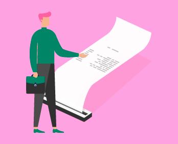 ilustracion factura de compras