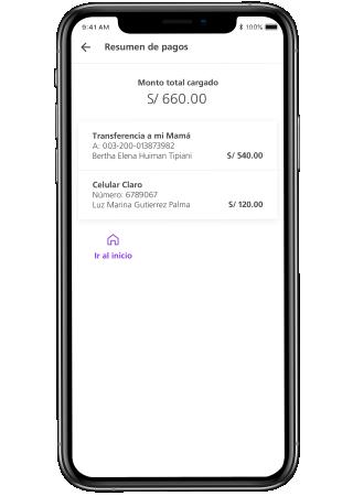9b506af3924 Usar Mi Lista para agrupar todos tus pagos y transferencias para hacerlas  al mismo tiempo. Recuerda que tienes guardarlas previamente.