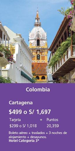 Colombia $499 o s/1,697